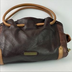 Cole Haan | Denney Pebble Leather Brown Hobo Bag